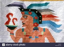 cancun mexico area maya mayan design tapestry wall hanging