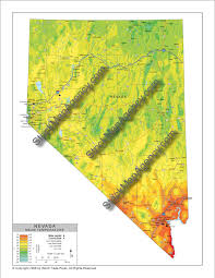 Map Of Nevada Cities Stockmapagency Com Average Mean Temperature Map Of Nevada With