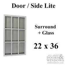 Exterior Door Window Inserts Half Lite For Steel Doors Door Glass Surround