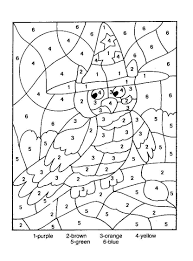color by number coloring pages free printable 20138 and for kids