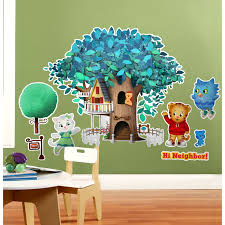 wall clings decals birthdayexpress com daniel tiger s neighborhood giant wall decals