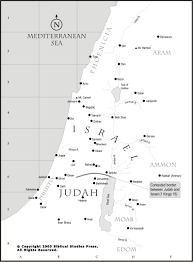 Map Israel 12 Israel And Judah The Map Gives A Representation Of The