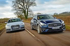 lexus vs infiniti vs audi infiniti q70 vs audi a6 auto express