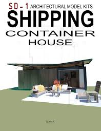 paper architectural model shipping container house
