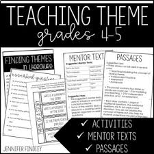 unit 6 resources themes in american stories theme resources activities for teaching theme by jennifer findley