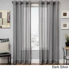 softline ariel sheer grommet top curtain panel by softline ariel