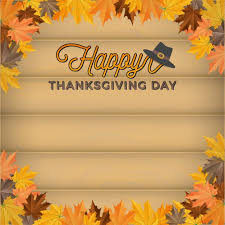 thanksgiving background design vector free
