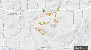 Atlanta Area Code Map by Cascade Springs Nature Preserve Trail