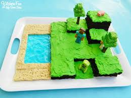 mindcraft cakes easy minecraft birthday party cake kitchen with my 3 sons