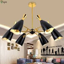 Black Metal Chandeliers Popular Led Black Metal Chandeliers Buy Cheap Led Black Metal