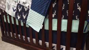 woodland boy crib bedding navy buck moose bear fletching arrow