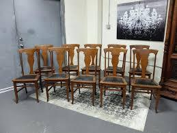 Oak Dining Room Furniture Oak Dining Chairs Set Of 6 Antique Rustic Oak Seat Dining