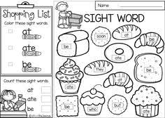 free sight word activities is perfect for preschool kindergarten