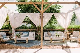 Sonoma Canopy by Laid Back Sonoma Wedding At Home Ruffled