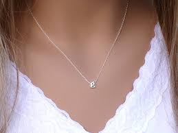 100 sterling silver initial necklace silver initial