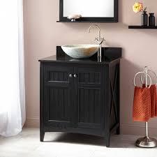 Alvelo Vessel Sink Vanity Black Bathroom Vanities Bathroom - Black bathroom cabinet with sink
