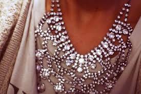 diamond necklace aliexpress images Jewels rhinestones rhinestones diamonds silver pretty jpg