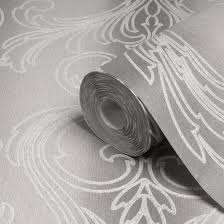 wallpaper with glitter effect graham brown valentino silver damask glitter effect wallpaper