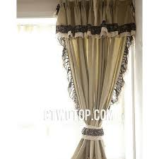 Black Curtains With Valance Cheap Simple Beige Burlap Curtains With Black Floral Lace
