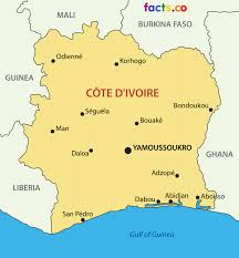 map of abidjan côte d ivoire ivory coast map with cities blank outline map of