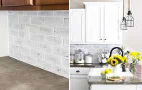 kitchen simple way to spruce up your faux brick backsplash