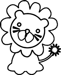 baby zoo lion animals coloring page wecoloringpage