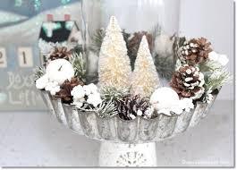 Christmas Centerpieces Diy by Diy Pie Tin And Bottle Brush Tree Centerpiece Hometalk
