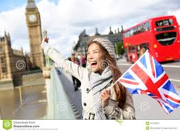 London Flag Photos London Happy Tourist Holding Uk Flag By Big Ben Stock Image