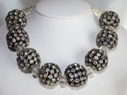 rhinestone necklace wedding images Large black rhinestone necklace rhinestone by 123gemstones on zibbet jpg