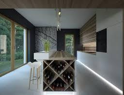 cuisine avec cave a vin casier à bouteilles cave à vin et refroidisseur dans la cuisine