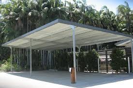 metal flat roof carports