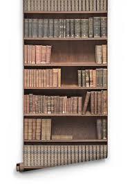 wallpaper that looks like bookshelves bookshelf effect vintage library wallpaper milton king