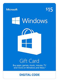 gift card software microsoft windows store gift card 15 value software