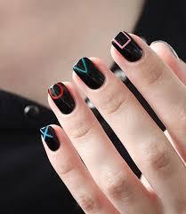 black nail art askideas com