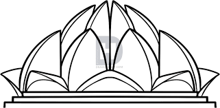 how to draw the lotus temple lotus temple step by step drawing