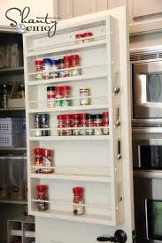 kitchen cabinet door storage racks pantry ideas diy door spice rack shanty 2 chic