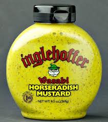 wasabi mustard horseradish mustard inglehoffer wasabi horseradish mustard