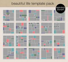 a4 8 x psd photographer u0026 scrapbook templates photoshop and