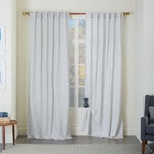 Cotton Canvas Curtains Cotton Canvas Chambray Print Curtain Platinum West Elm