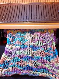 machine knitting fun gossamer tuck lace and the learning curve