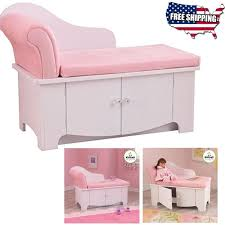 Pink Chaise Lounge Girls Princess Chaise Lounge Sofa Kids Toy Bedroom Furniture