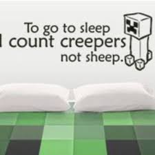 Minecraft Bedroom Decals by Shop Minecraft Wall Decals On Wanelo