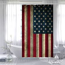 Custom Bathroom Shower Curtains Vintage Usa Flag Fabric Custom Bathroom Shower Curtain