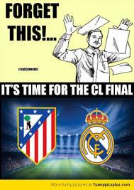Chions League Memes - chions league final real madrid vs athletico madrid memes