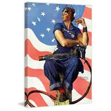 marmont hill rosie the riveter by norman rockwell painting