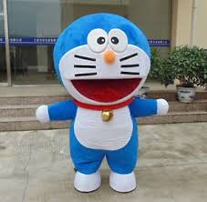 Halloween Mascot Costumes Big Head Mechanical Cat Doraemon Mascot Costume Halloween Fancy