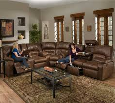 dakota 596 reclining sectional in smokey sofas and sectionals
