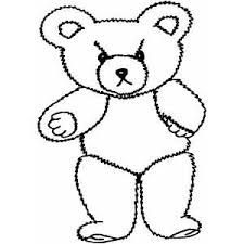angry teddy bear coloring