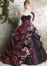 unique wedding dress purple wedding dress