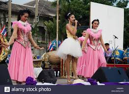 thai people sing folk song and country music with dance local thai